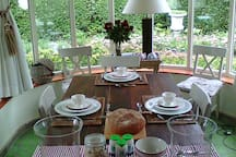Bio ontbijt in veranda
