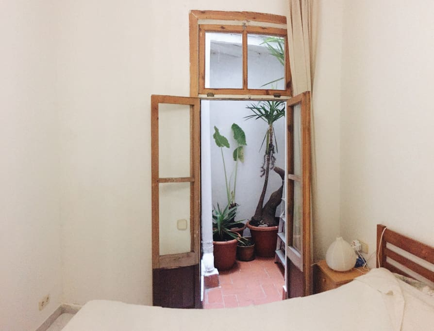 Private Double Bedroom with mini courtyard.