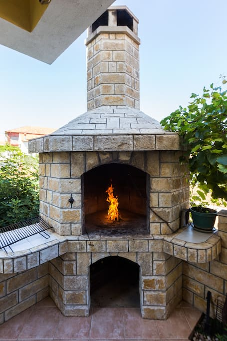 Fireplace for BBQ