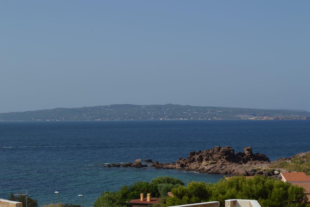 vista dal balcone spiaggia portopaglietto