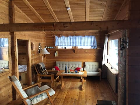 Your escape to a handbuilt log cabin