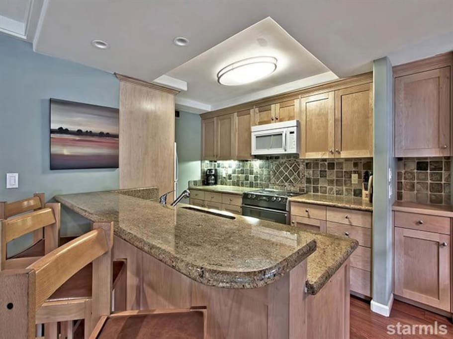 Granite counter tops - renovated.