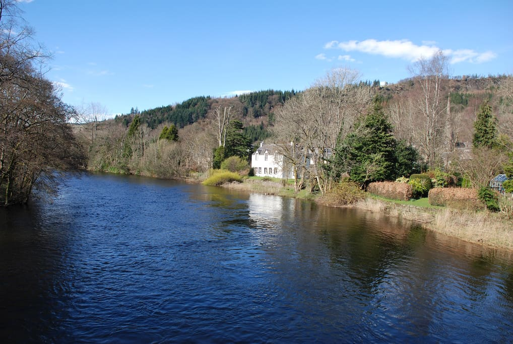 River Teith runs through the centre of Callander.