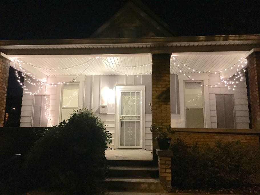 Front porch at night