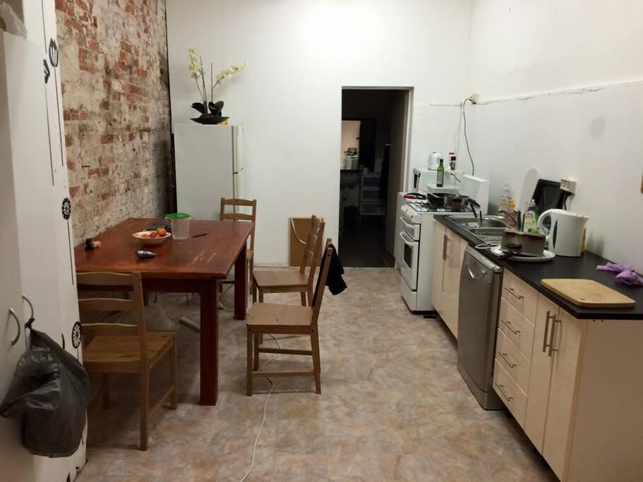Kitchen & downstairs bathroom