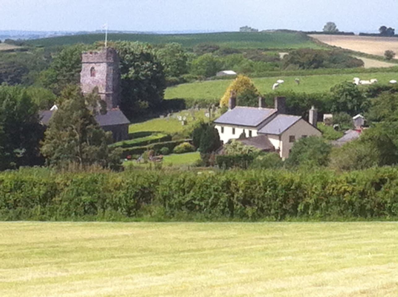 Beautiful views of Exmoor in our peaceful hamlet just off The Two Moors Way