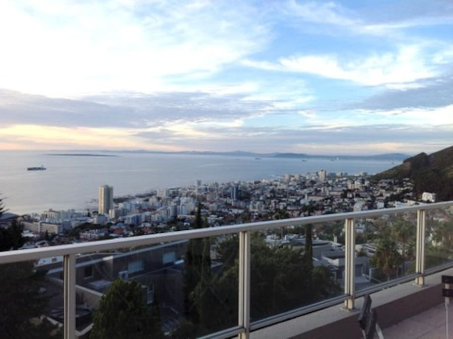 Views over the Atlantic Seaboard from terrace