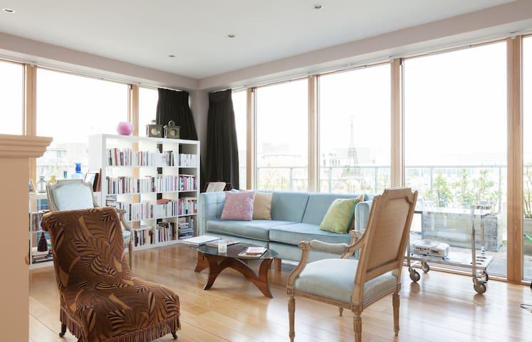Dbl room in Penthouse-City center - Dublin - Loft