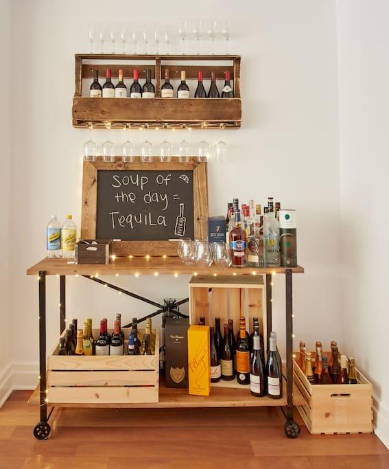 our home bar