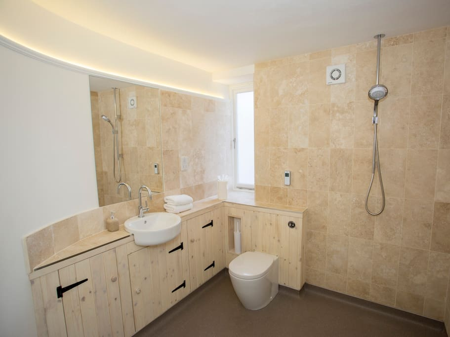 Large wet room downstairs suitable for wheelchair