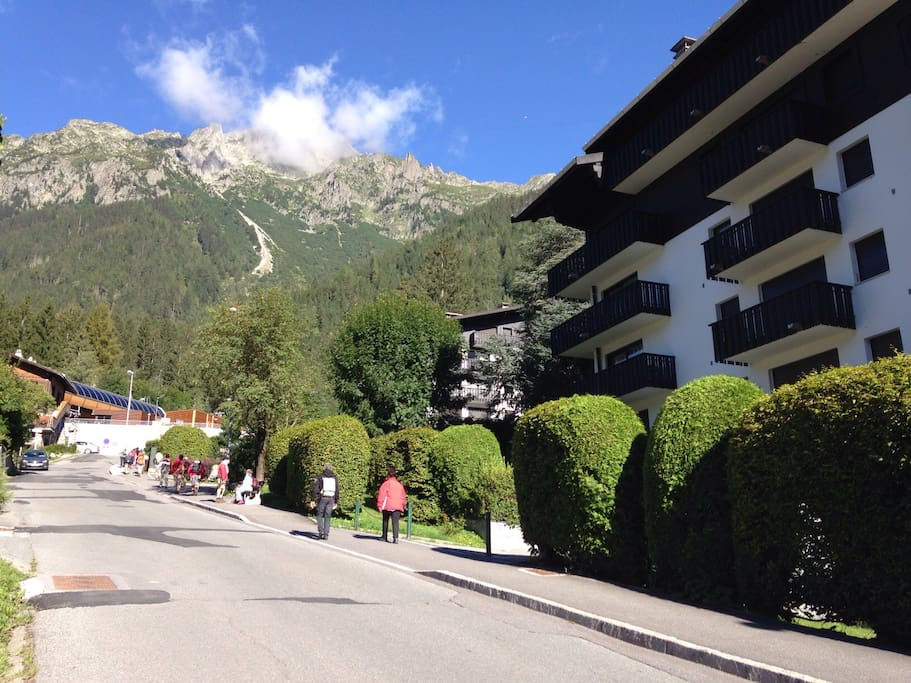 Residence du Brevent is right by the Brevent lift in central Chamonix
