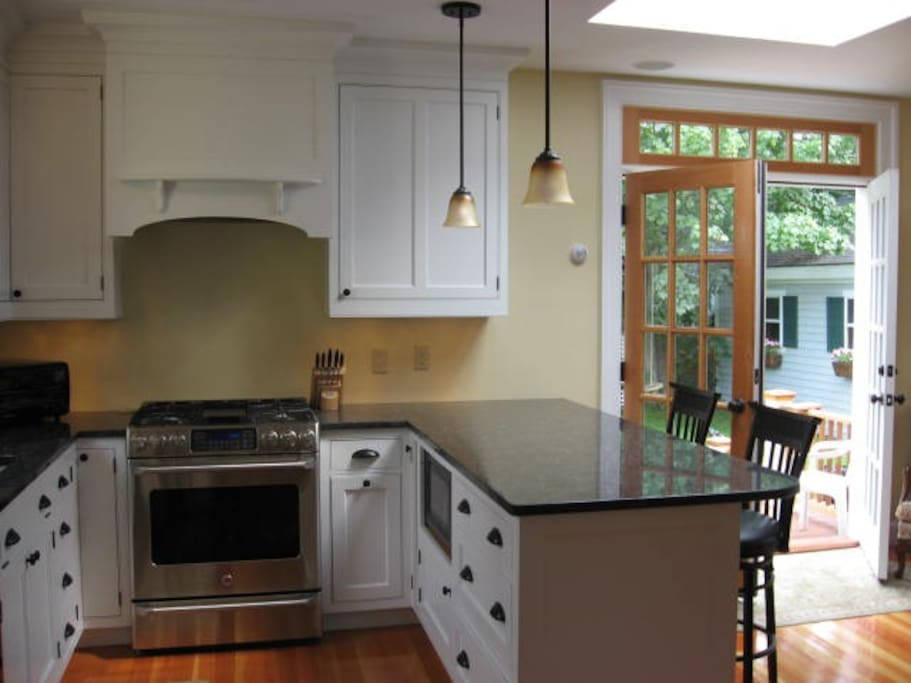 Roomy modern kitchen for your use
