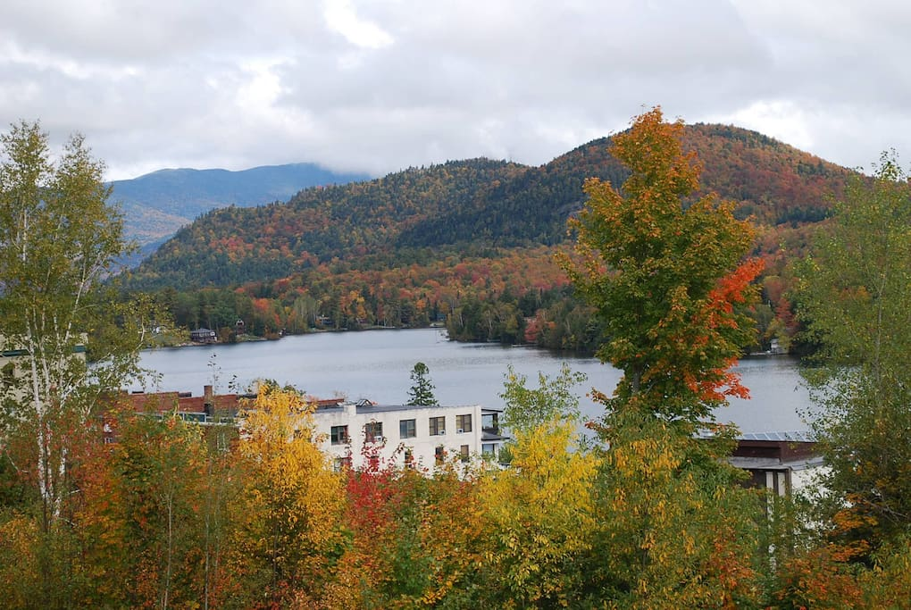 Mirror Lake in Lake Placid