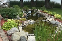 Grounds include beautiful ponds