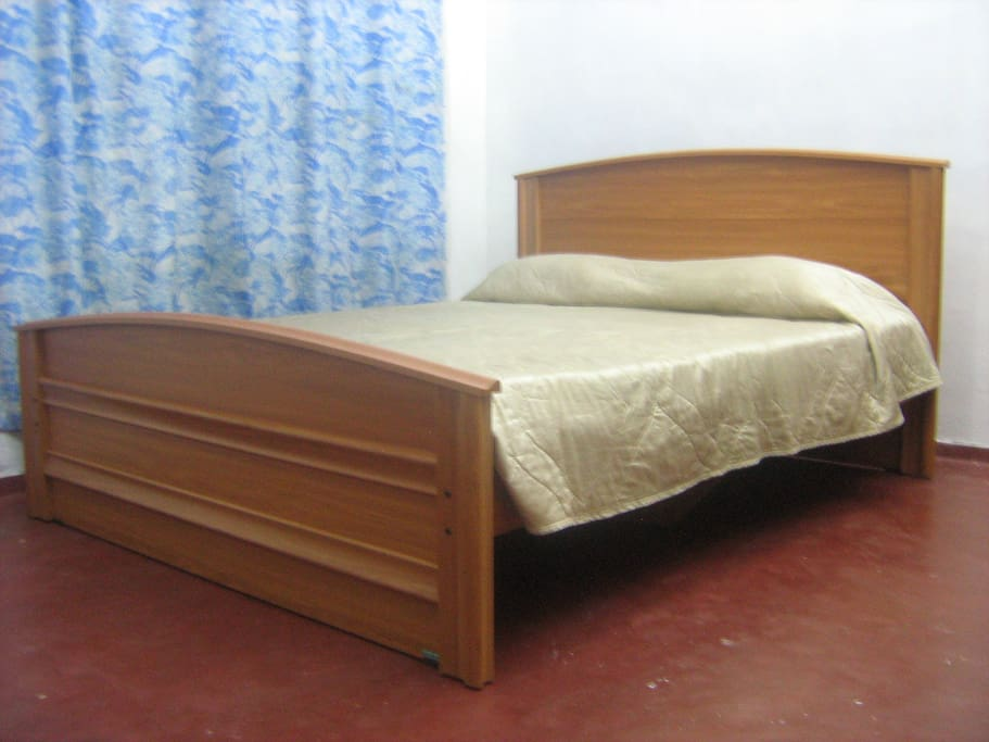 Blue room with brand new extra long bed