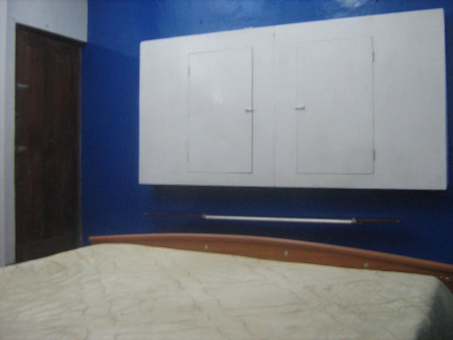 Cupboards in blue Room.