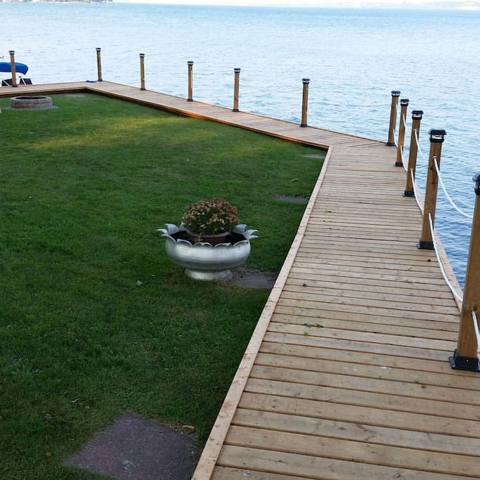 100' of River Front with a boardwalk!