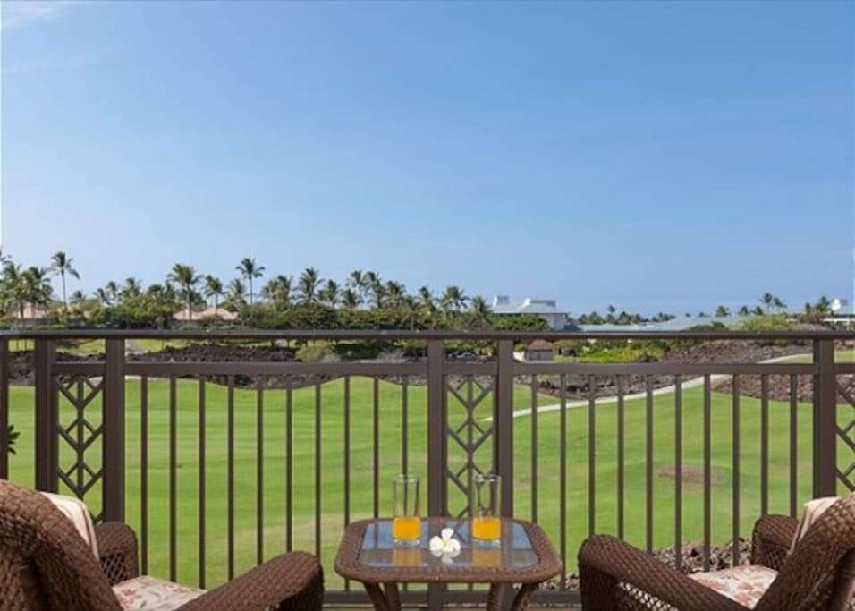 Relax unwind with great views on the upper lanai