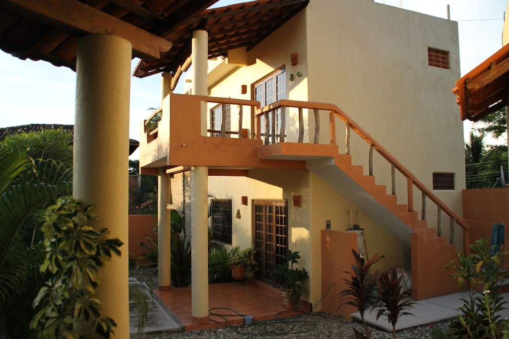 Casa las Ranas has 2  bungalows and 1 main house. Each one is a separate rent and has an independent entrancy.