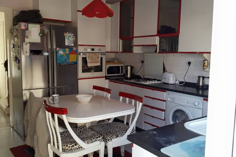 Italian Kitchen with double fridge freezer.