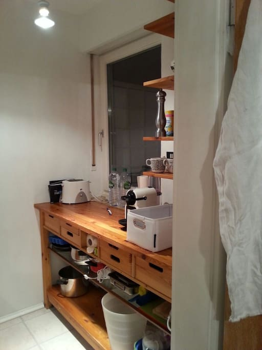 Hier meine Küche.