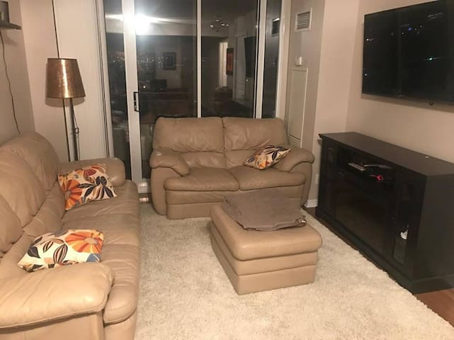 Cozy private one bed room condo furnished!