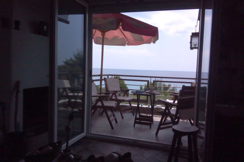 View of the sea from main balcony