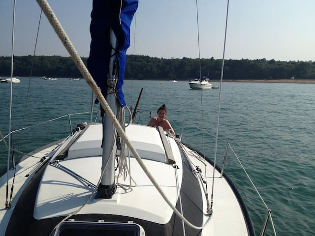 Marina Glamping on cosy yacht - Swanwick - เรือ