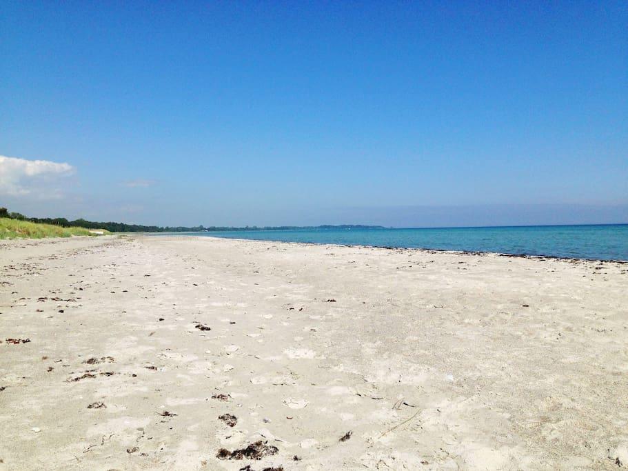 Beach, 400m away