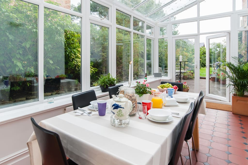Sunny conservatory where you will have breakfast