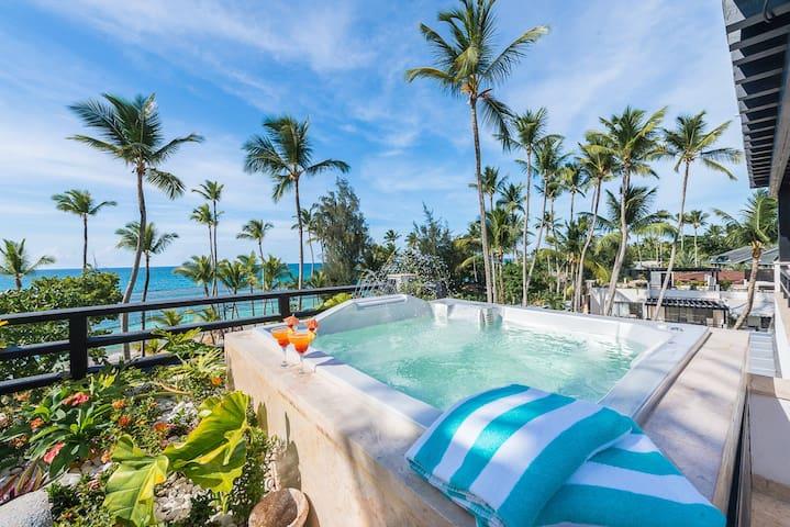 3-bedroom beachfront penthouse (M9) - Las Terrenas - Lägenhet
