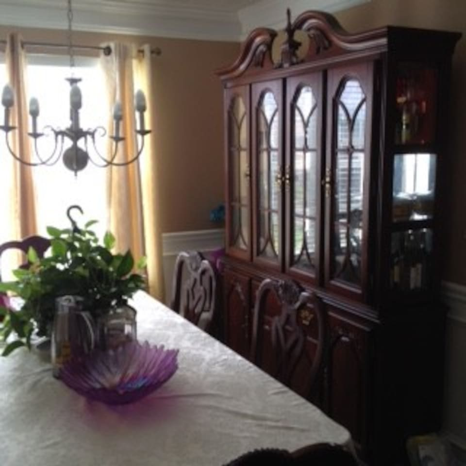 Large comfortable dining table to sit six