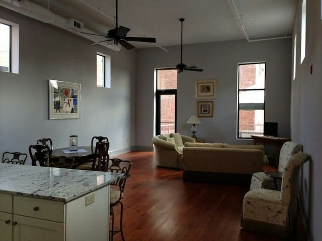 Downtown Loft With Rooftop Patio - Macon - Loft空間