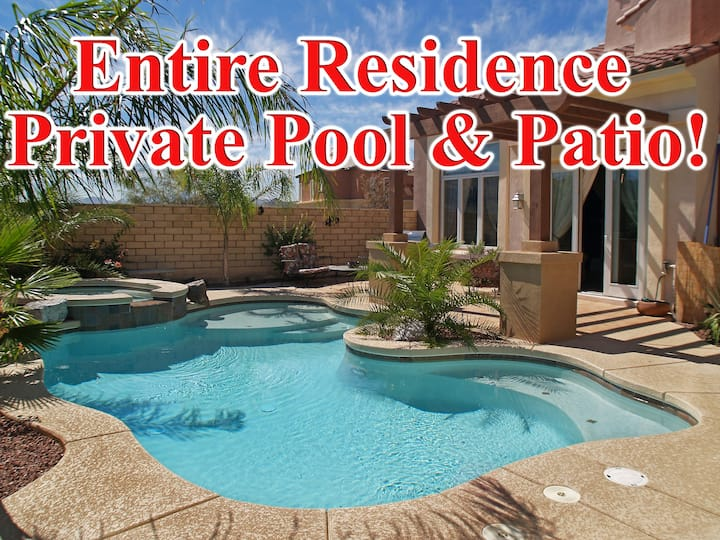 Entire RESIDENCE! Private Pool & Patio from $565