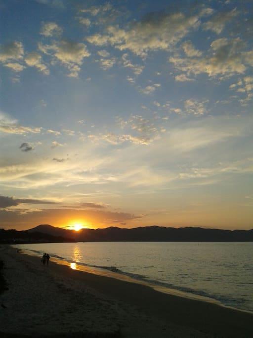 by special sunset in Jurerê