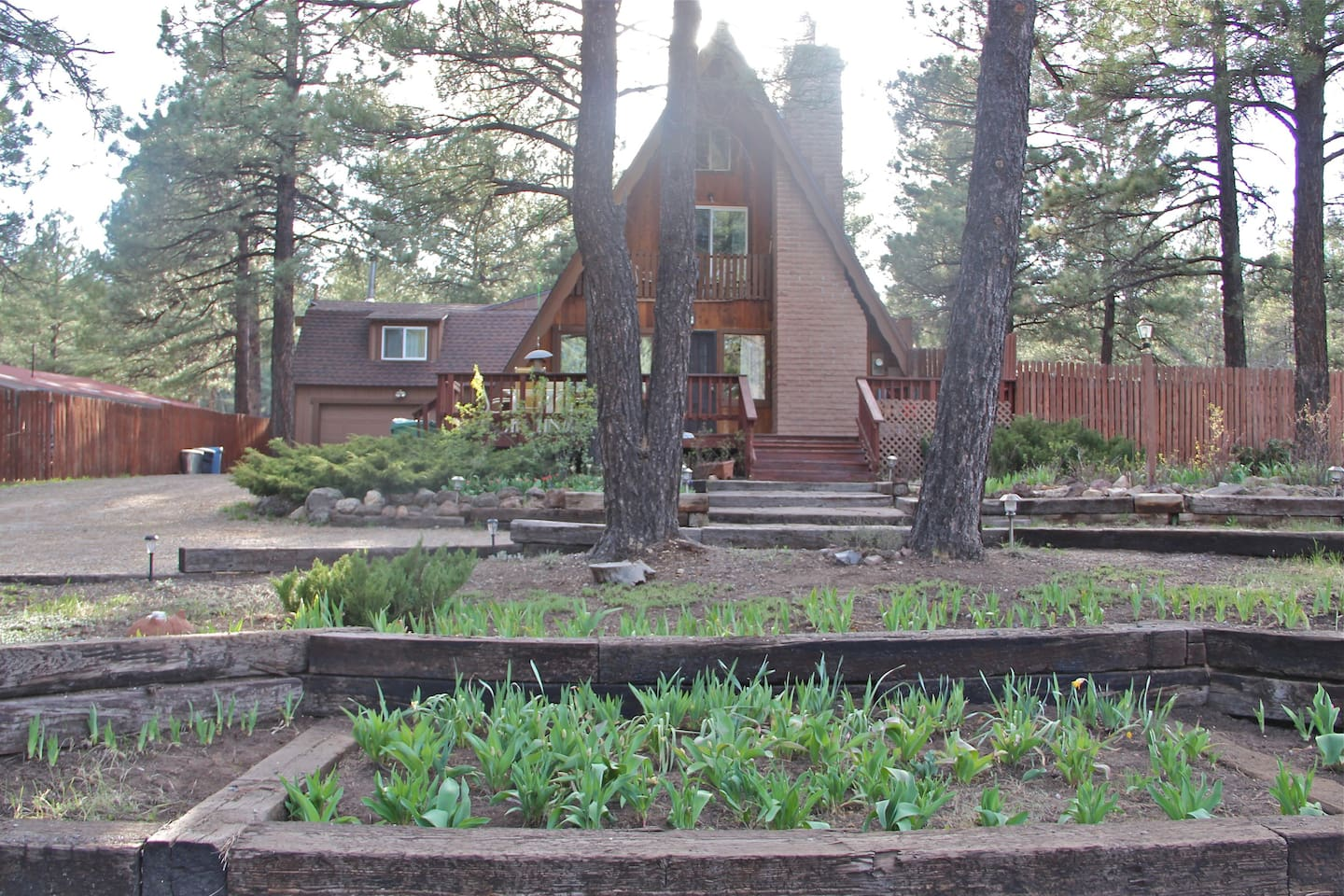 The Flagstaff Chalet.  Flagstaff's unique A frame experience