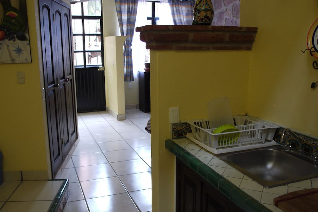Includes kitchen, private entrance, full bath with tub, double bed.
