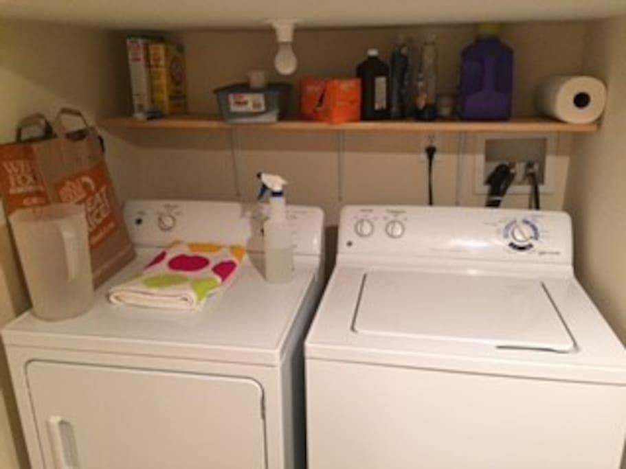 Washing and drying machine access