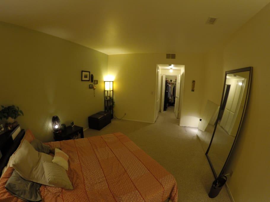 huge master bedroom side view
