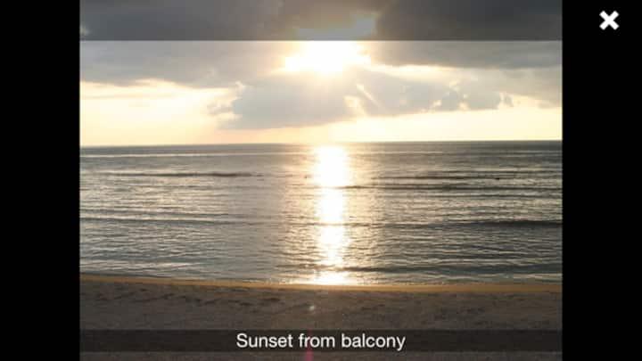 Most beautiful beachfront sunset