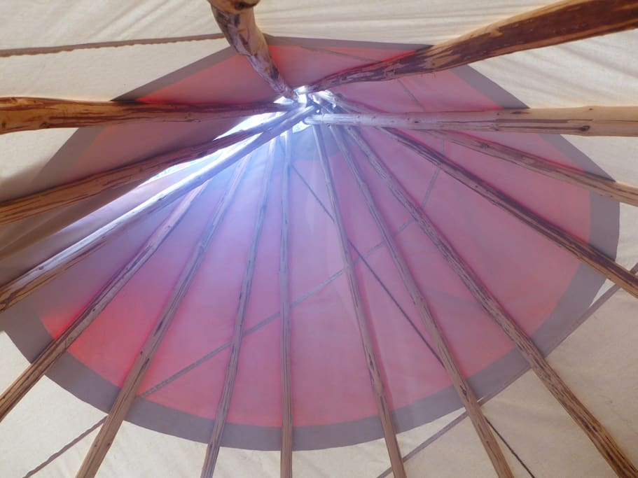 The top of the teepee from your bed