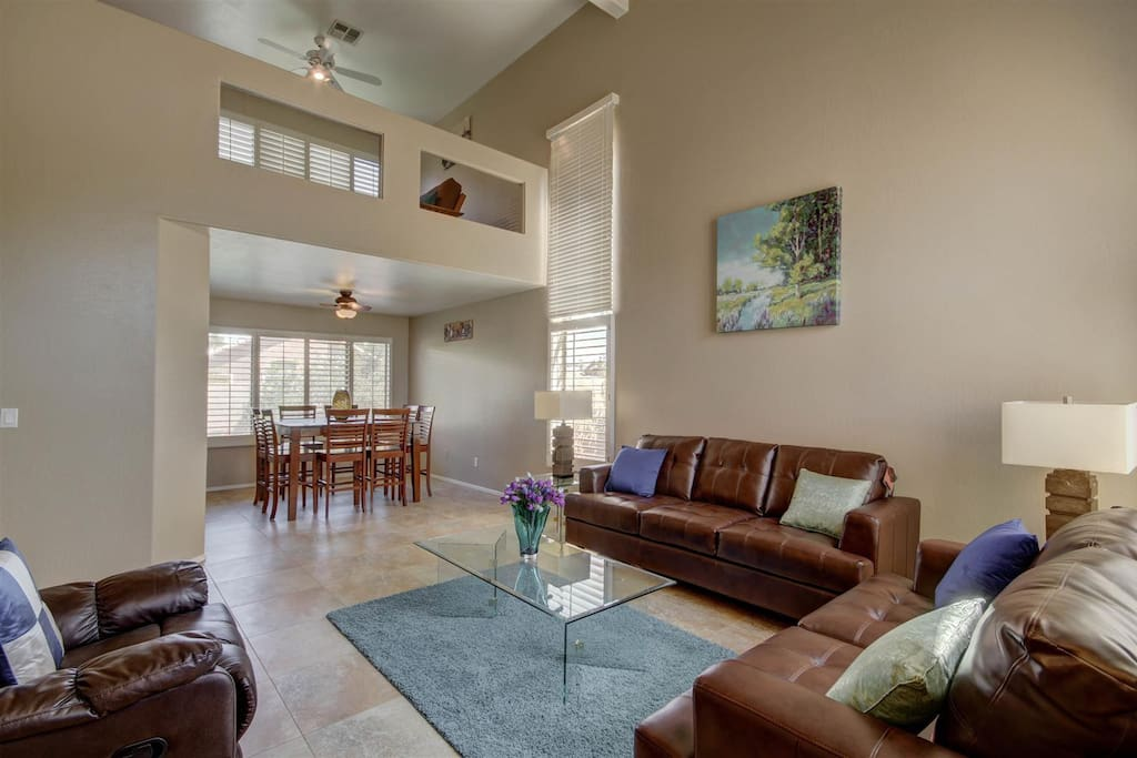 Plenty of seating everywhere in this spacious home