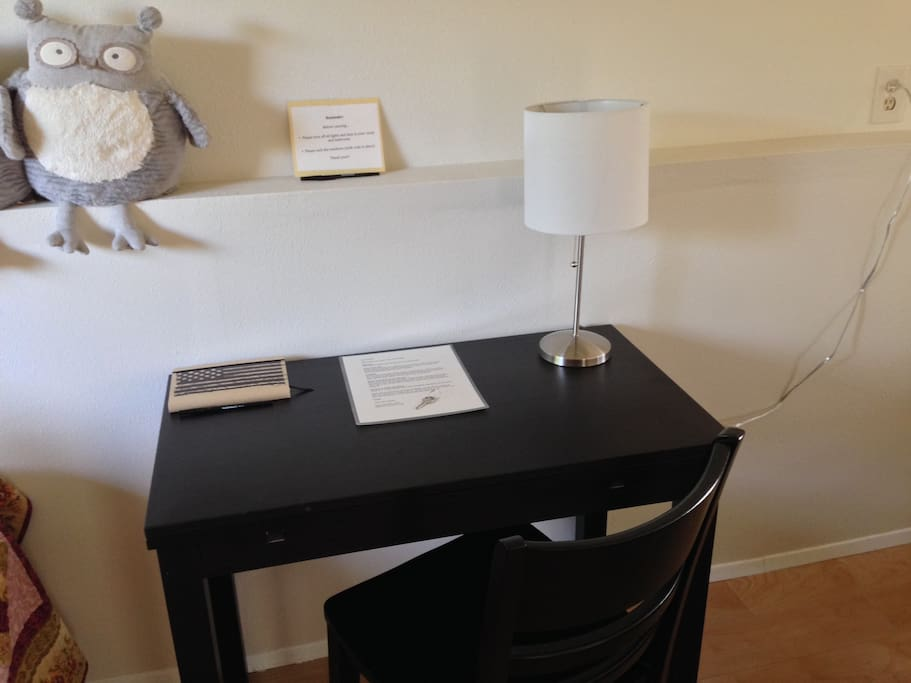 Ample desk space for doing your work.