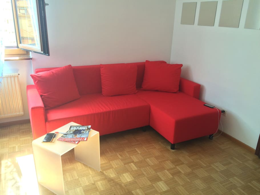 Nice couch where you can enjoy the time in the house, completely dedicated for you.