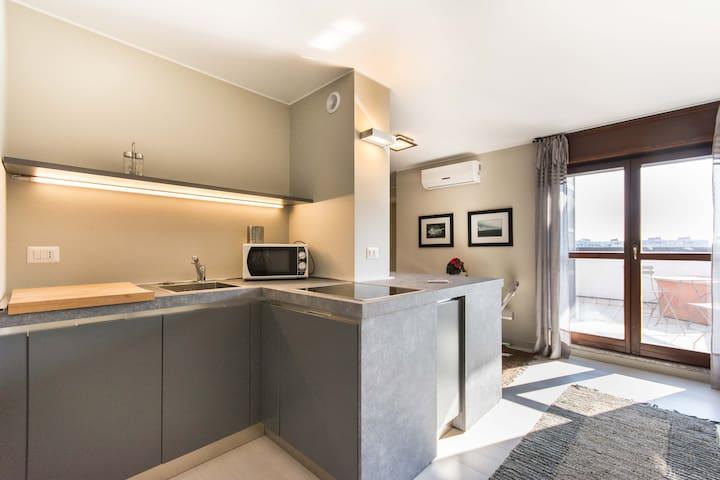 outstanding penthouse by the lake - San Donato Milanese - Apartemen
