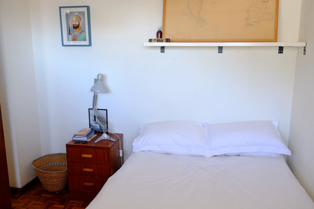Your bedroom. Light and airy, with views of Table Mountain from the comfy bed.