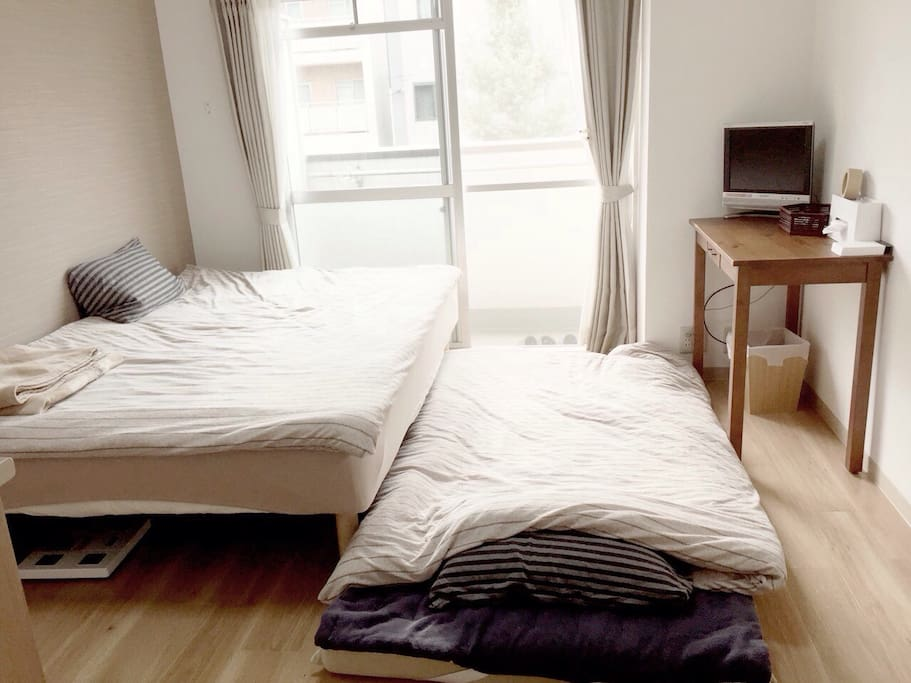 When three person sleep( if two person want to separate sleeping, tell me I provide mattress)