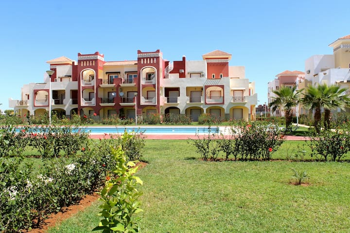 Appartement RDC terrasse et piscine - Saidia - Wohnung