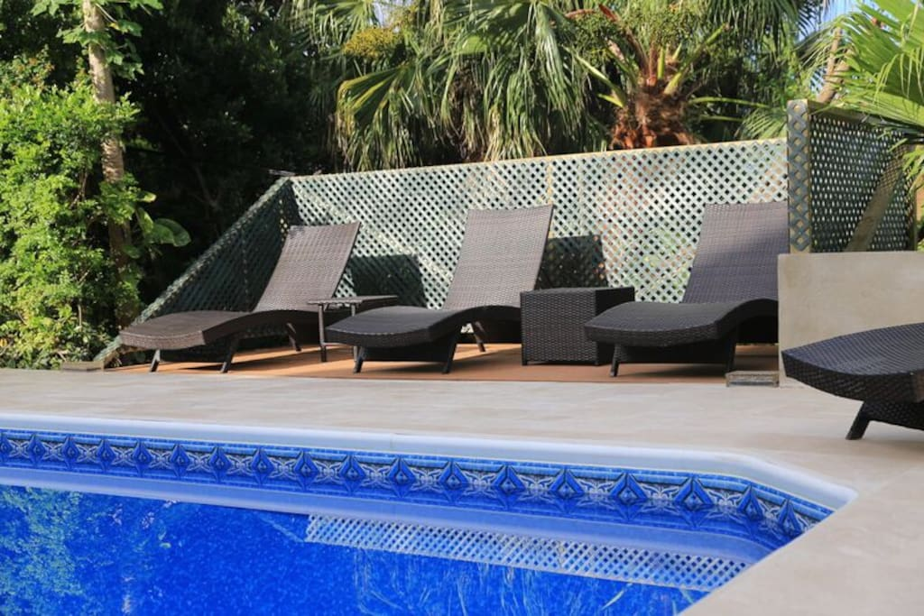 Relax by the pool.