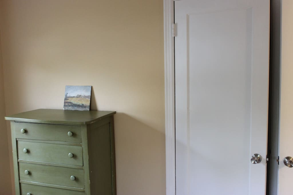 Your room includes a dresser and closet for any storage needs!